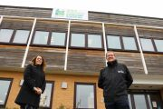 Operations Manager Kirsty Wood and Chief Executive Wayne Grills at Landscape House